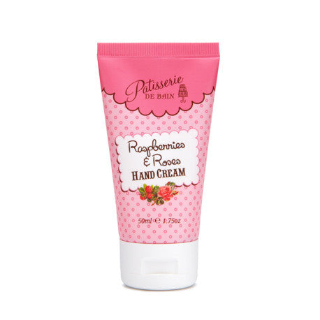 """Patisserie de Bain"" Hand Cream Tube Raspberries and Roses"