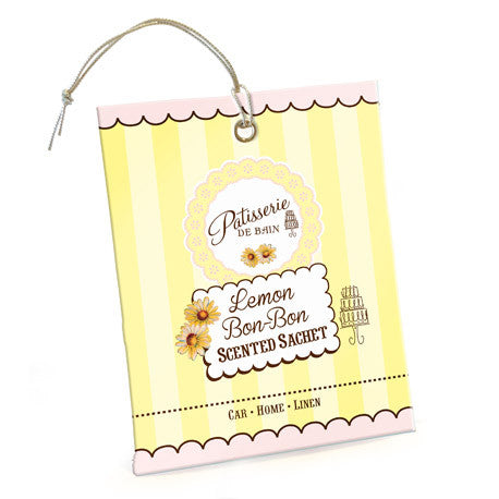 """Patisserie de Bain"" Scented Sachet Lemon Bon Bon-Bath Products-Rose & Co-Putti Fine Furnishings"