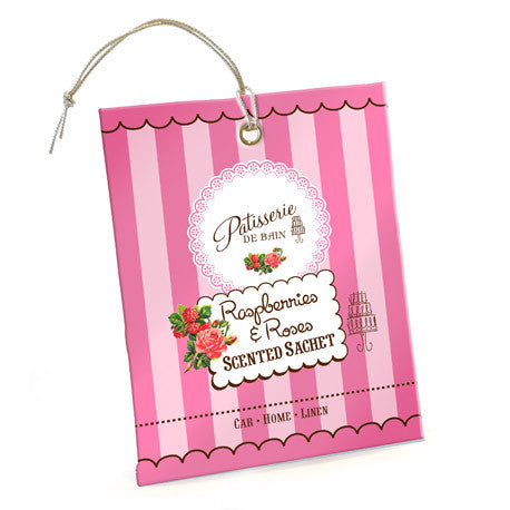 """Patisserie de Bain"" Scented Sachet Raspberries and Roses-Bath Products-Rose & Co-Putti Fine Furnishings"