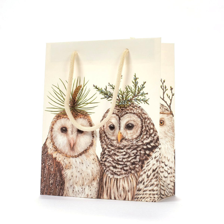 Hester & Cook Winter Owls Gift Bag