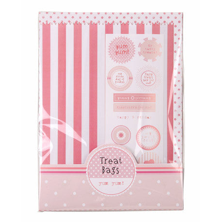 Pink & White Stripe Treat Bags