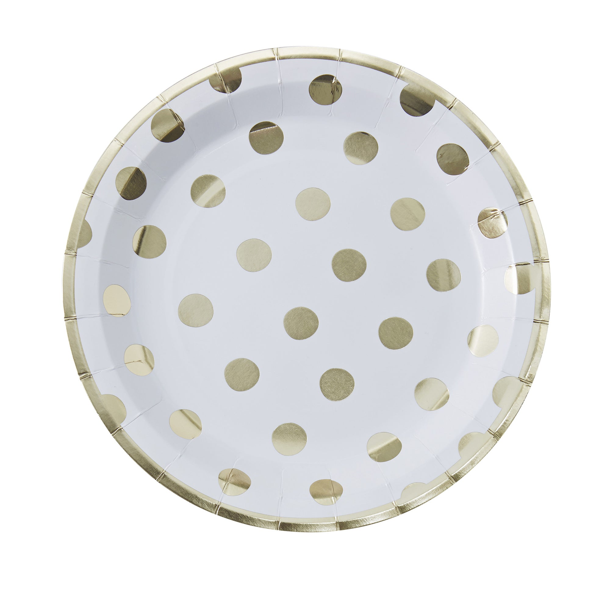 Gold Foil Dot - Paper Plates, GR-Ginger Ray UK, Putti Fine Furnishings