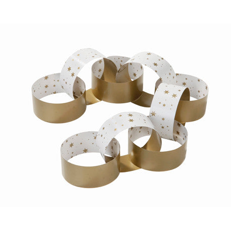 Party Porcelain Gold Paper Chains -  Paper Plates - Talking Tables - Putti Fine Furnishings Toronto Canada - 1