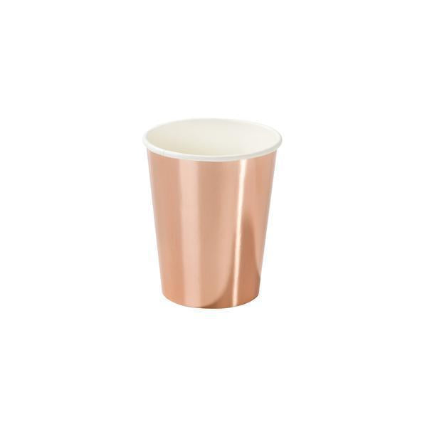 Party Porcelain Rose Gold Paper Cups