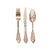 Ornate Rose Gold Plastic Cutlery