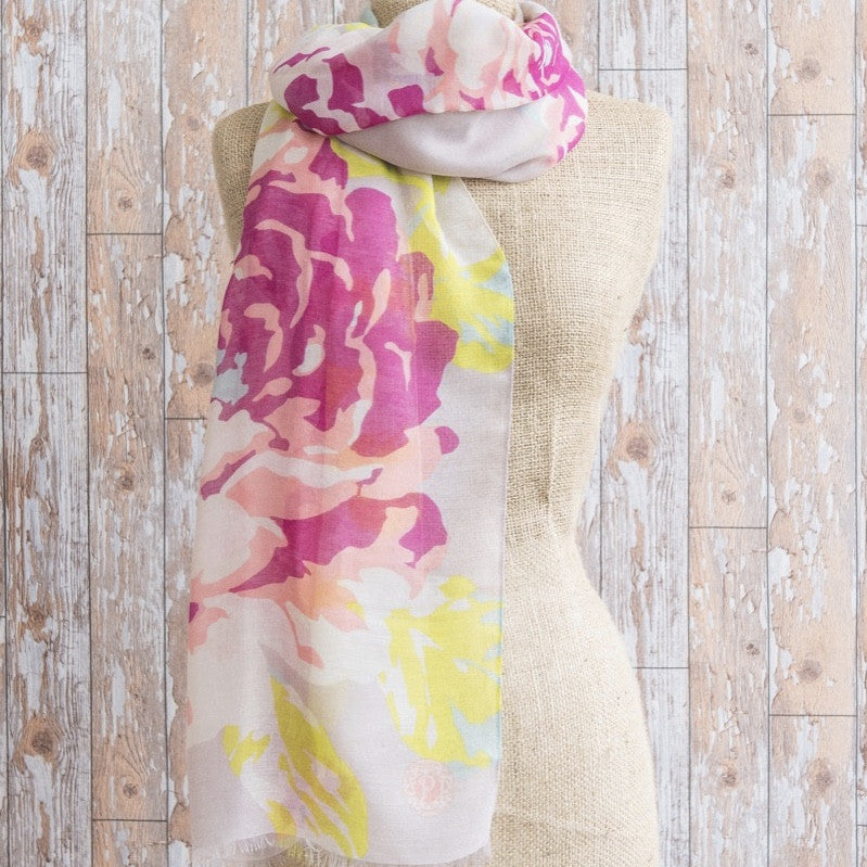 "Powder ""Rose"" Scarf - Stone"