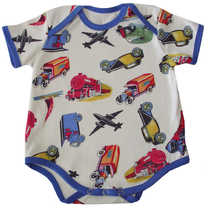 Vintage Transportation Baby Grow