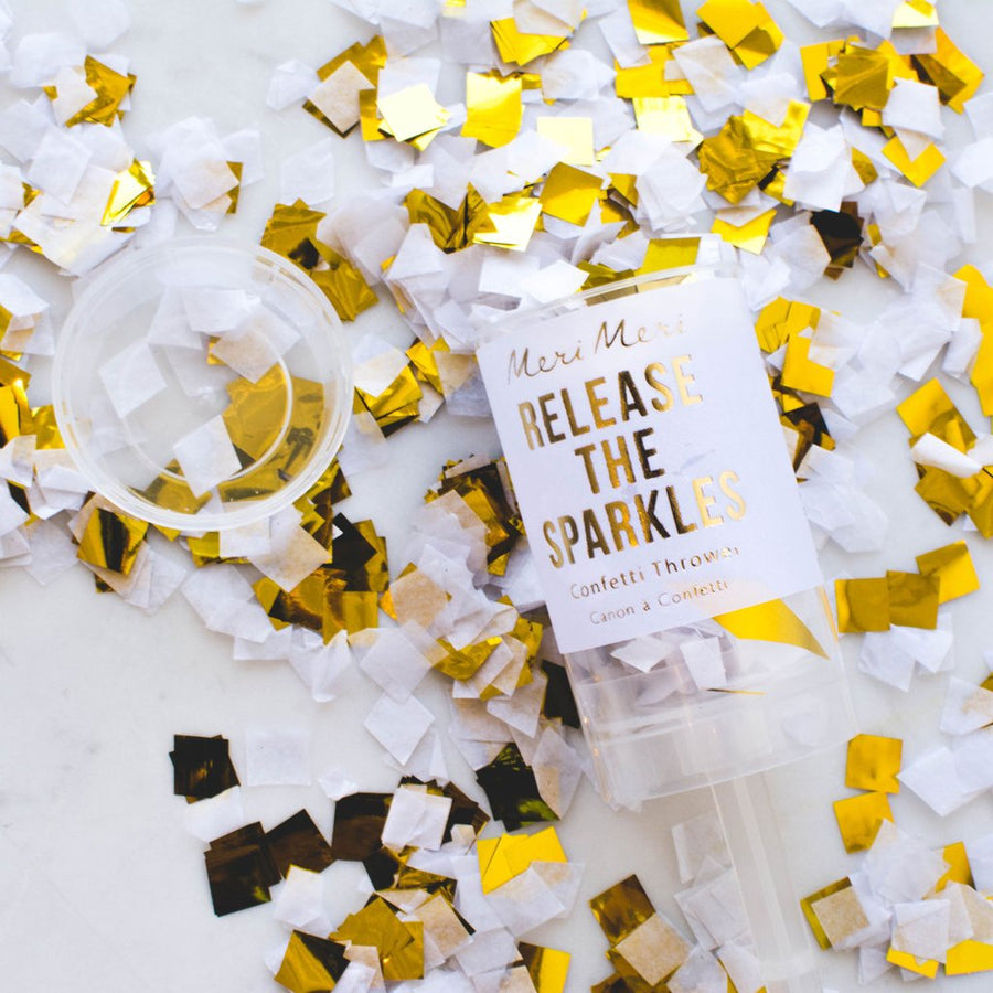 Meri Meri Confetti Popper - Gold -  Party Supplies - Meri Meri UK - Putti Fine Furnishings Toronto Canada