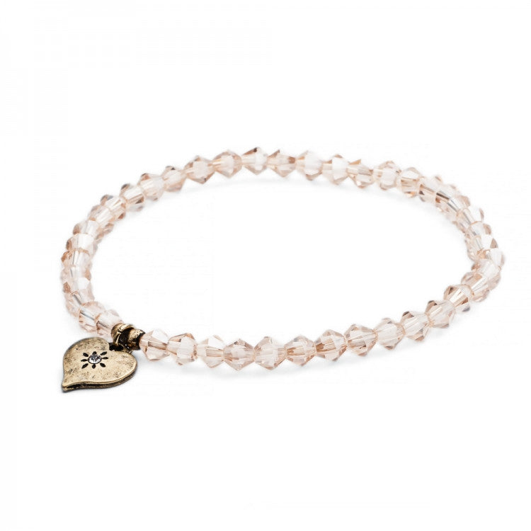 Lovett & Co. Tiny Sparkle Bead Bracelet Peach AB, L&C-Lovett & Co., Putti Fine Furnishings