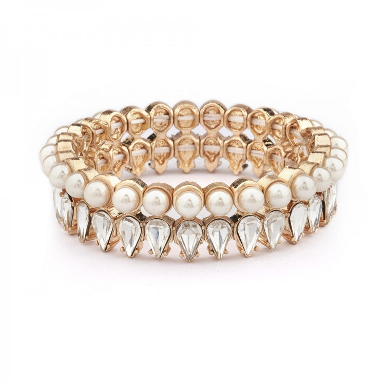 Lovett & Co. Pearl and Crystal Teardrop Bracelet, L&C-Lovett & Co., Putti Fine Furnishings
