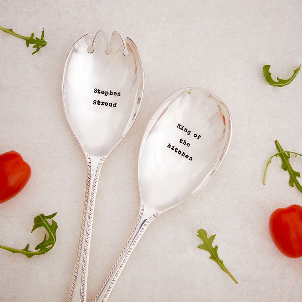 """Personalized"" Vintage Salad Servers -  Flatware - La De Da Living - Putti Fine Furnishings Toronto Canada - 1"