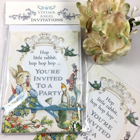 Peter Rabbit Party Invitations-Party Supplies-VA-Vintage Angel-Putti Fine Furnishings