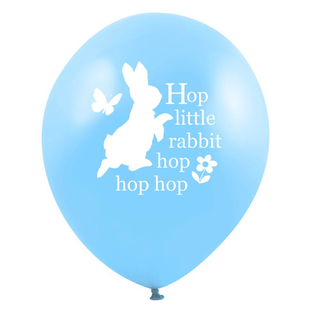 "Peter Rabbit ""Hop little rabbit...hop hop hop"" Balloon - Light Blue"