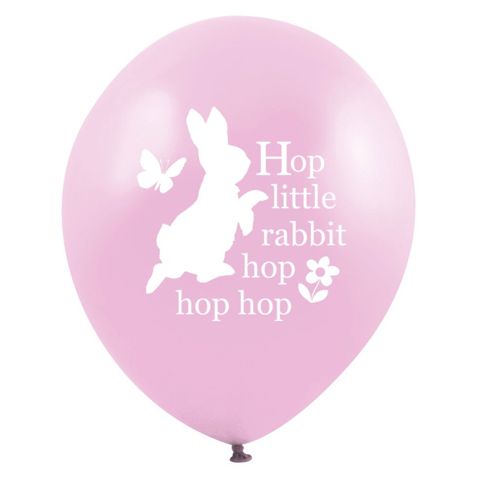 "Peter Rabbit ""Hop little rabbit...hop hop hop"" Balloon - Pink, VA-Vintage AngelVA-Vintage Angel, Putti Fine Furnishings"