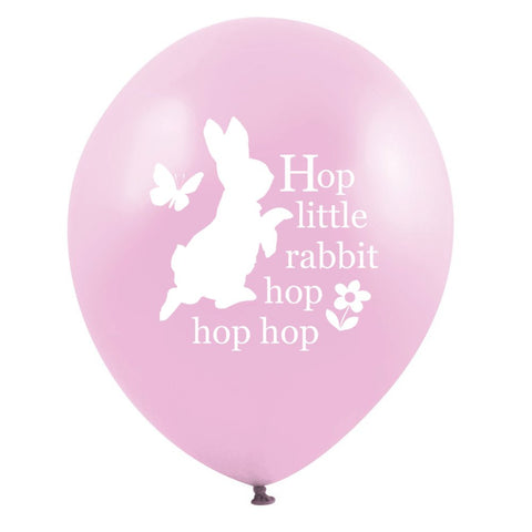 "Peter Rabbit ""Hop little rabbit...hop hop hop"" Balloon - Pink-Party Supplies-VA-Vintage AngelVA-Vintage Angel-Balloon-Putti Fine Furnishings"