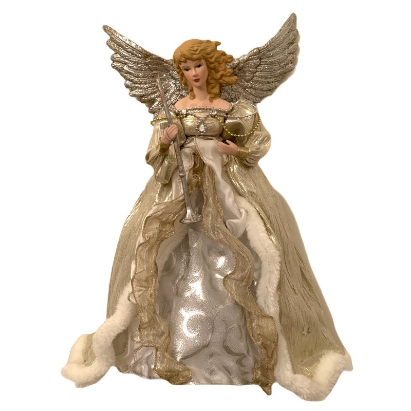 Kurt Adler Champagne Flying Angel Tree Topper