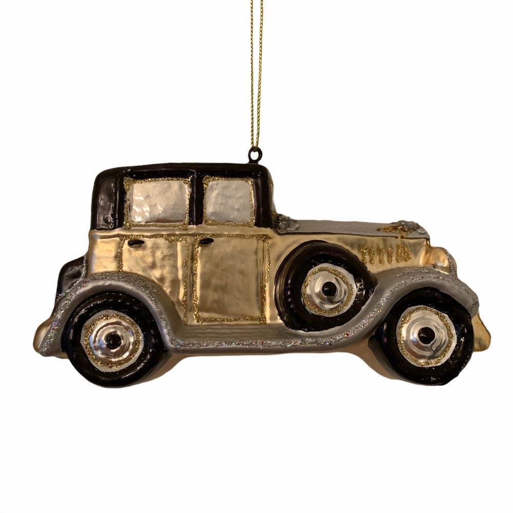 Kurt Adler Vintage Car Glass Ornament