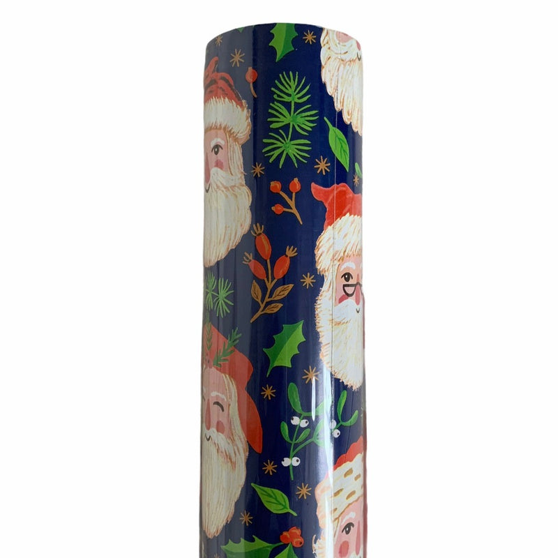 Country Santas Wrapping Paper Roll