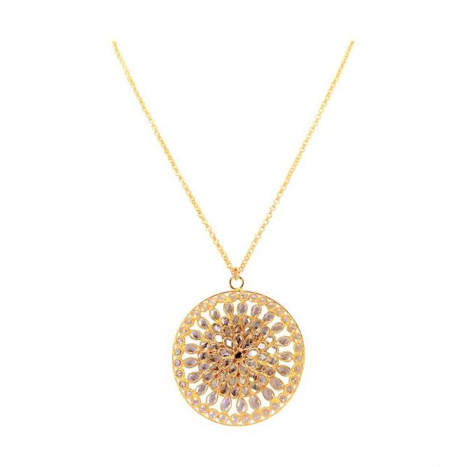 Blossom Disc Gold Necklace