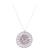 Blossom Disc Silver Necklace