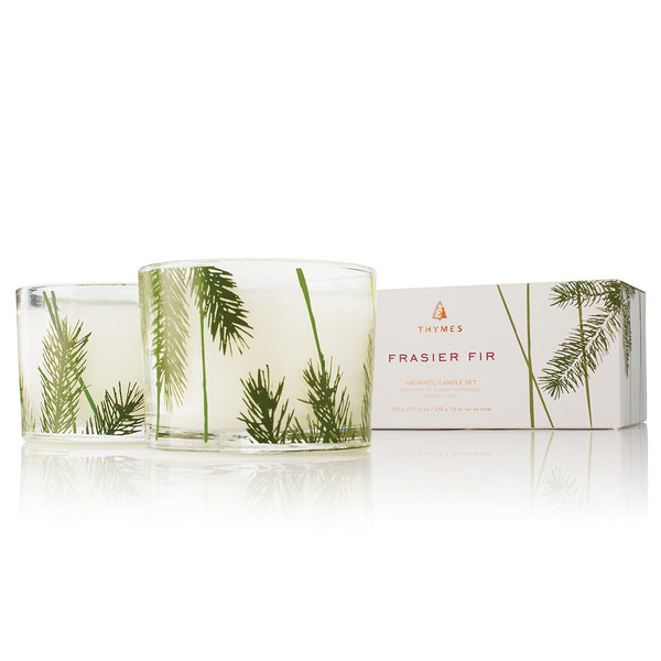 Thymes Frasier Fir Pine Candle Set -  Home Fragrance - Thymes - Putti Fine Furnishings Toronto Canada