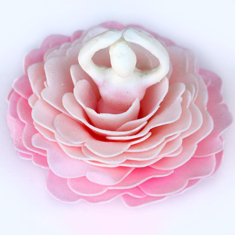 A'Marie's Pink Patty Ballerina Bath Flower