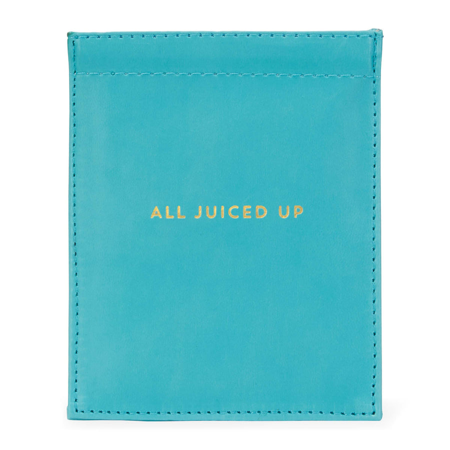 """All Juiced Up"" Leatherette Cord Pouch"