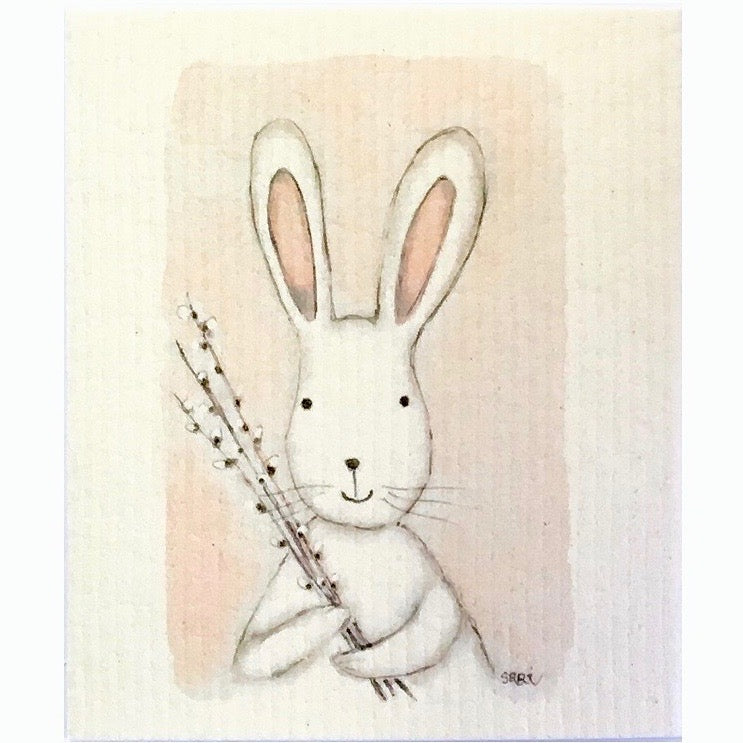 More Joy Bunny with Willow Swedish Cloth | Putti Fine Furnishings