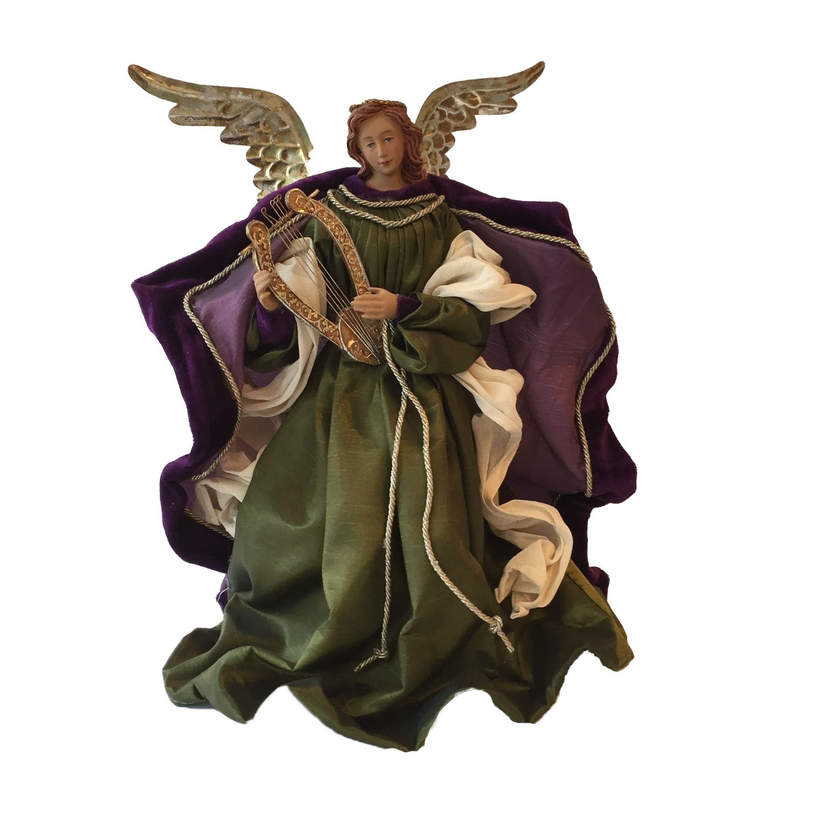 Angel with Purple and Green Robes -  Christmas Decorations - CT-Christmas Traditions - Putti Fine Furnishings Toronto Canada