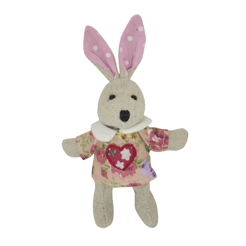 Mini Rabbit with Loveheart Dress-Children's Toys-PC-Powell Craft Uk-Putti Fine Furnishings