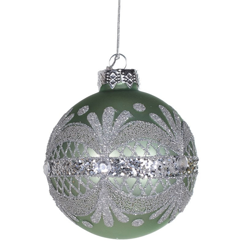 Green Glitter Band Ornament