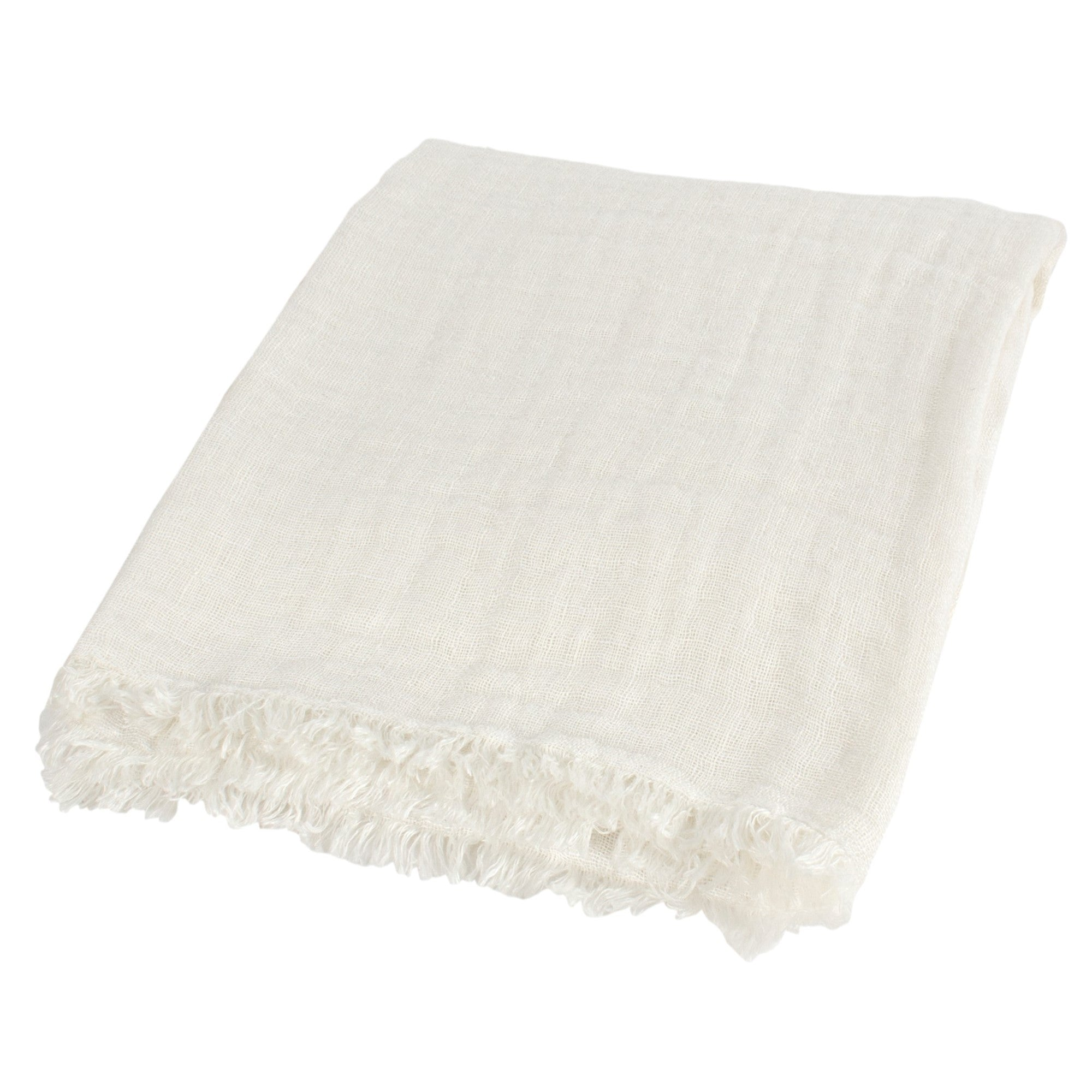Ivory Linen Throw | Putti Fine Furnishings Canada