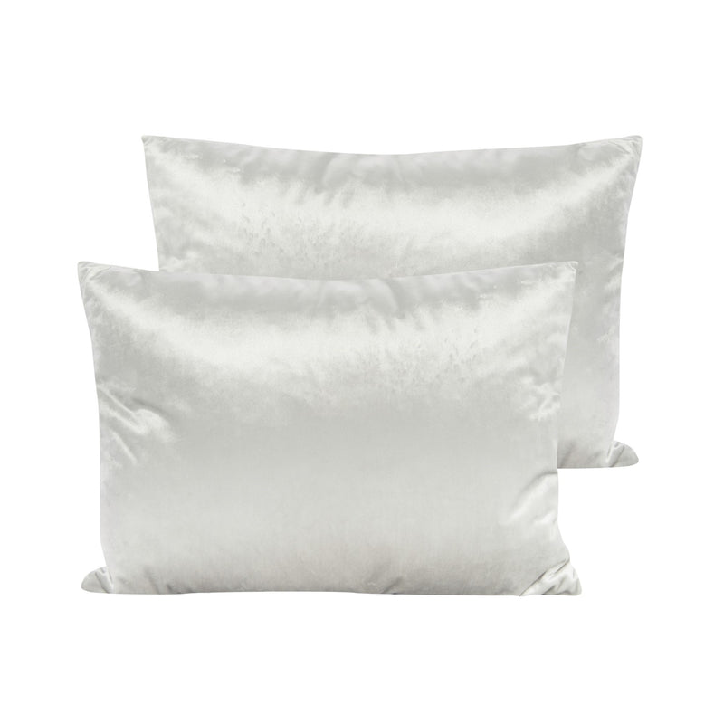 Cream Velvet Pillow - Rectangular - Putti Fine Furnishings Canada
