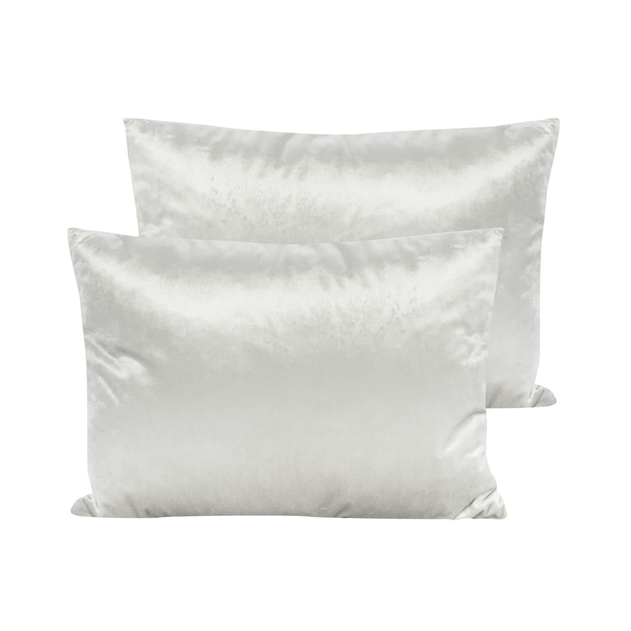 Cream Velvet Pillow - Rectangular