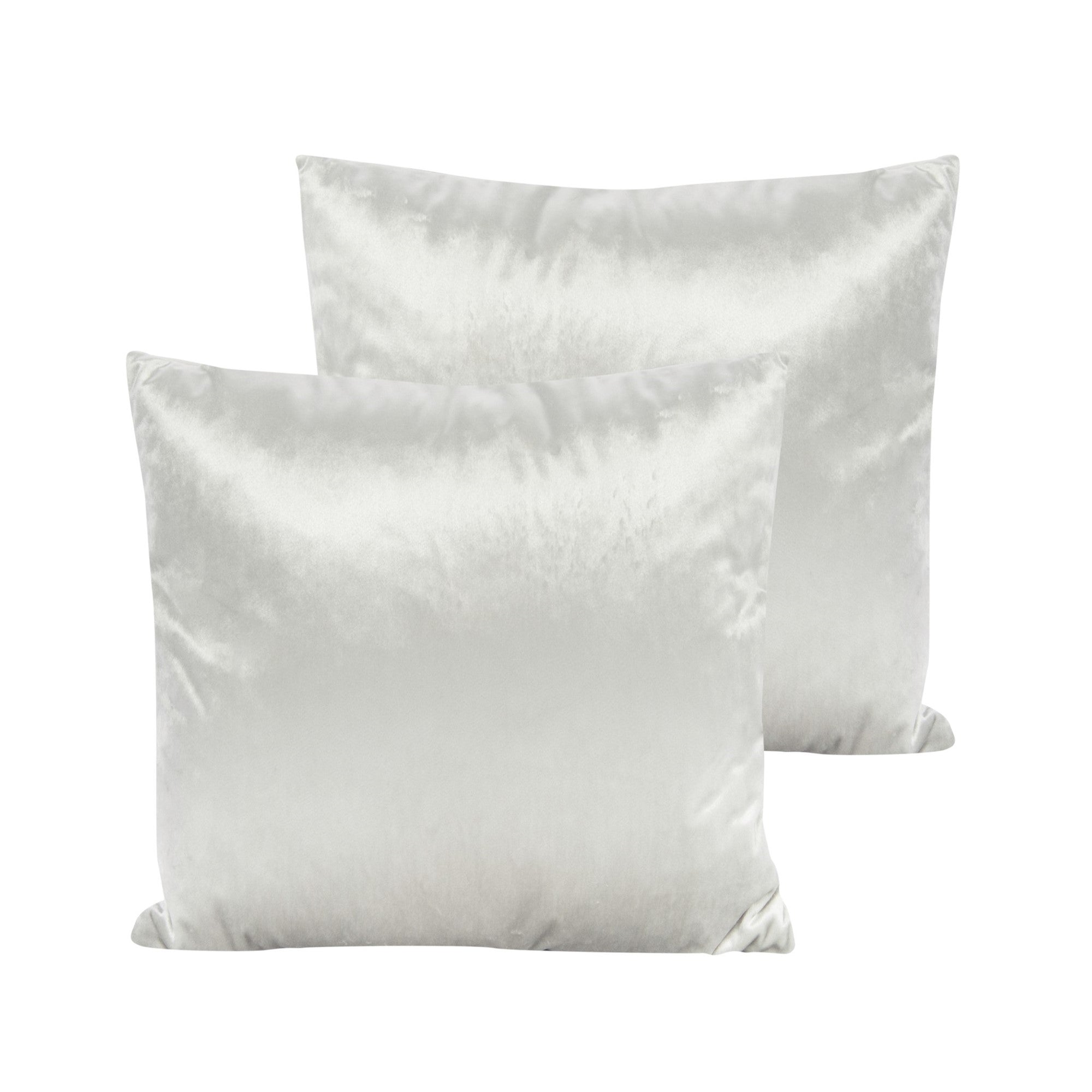 Cream Velvet Pillow - Square - Putti Fine Furnishings Canada