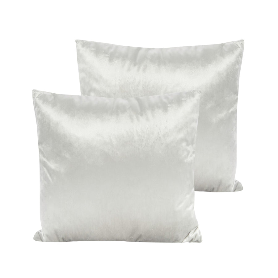 Cream Velvet Pillow - Square