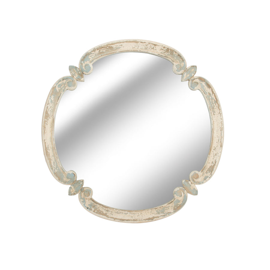 Round Antique Finish Mirror