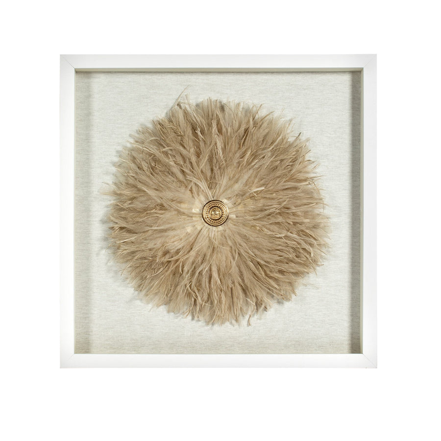 Wall Art Framed Feather Flower