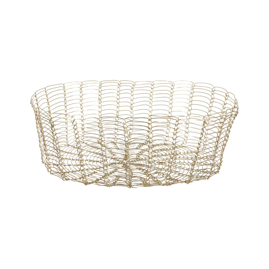 Oval Gold Wire Basket - Large
