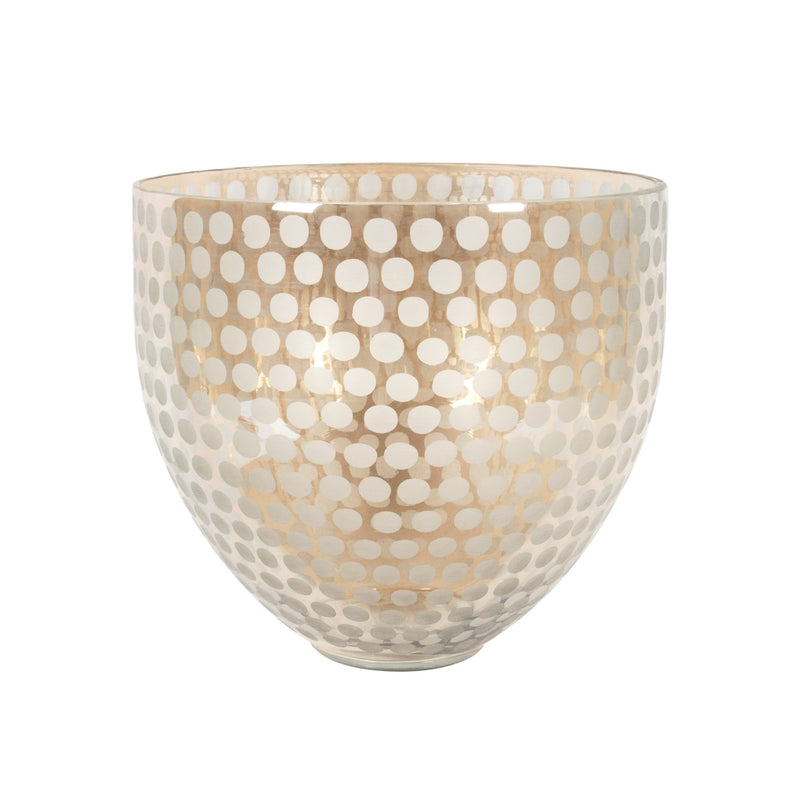 Gold Luster Glass Bowl with Dots - Putti Fine Furnishings Canada