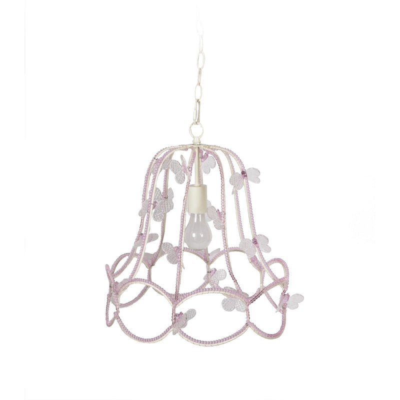 Pink Beaded Butterfly Ceiling Light, CF-Canfloyd, Putti Fine Furnishings