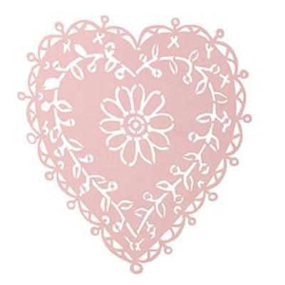 Small Pink Cut Out Heart, CH-Coach House, Putti Fine Furnishings