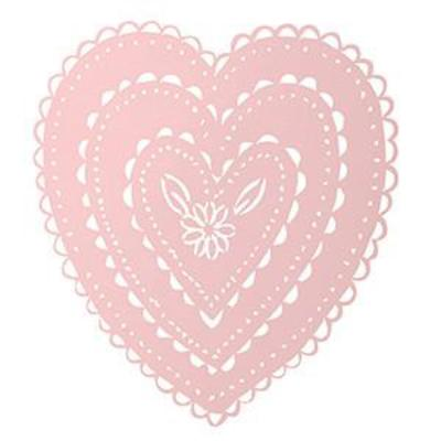 Large Pink Cut Out Heart