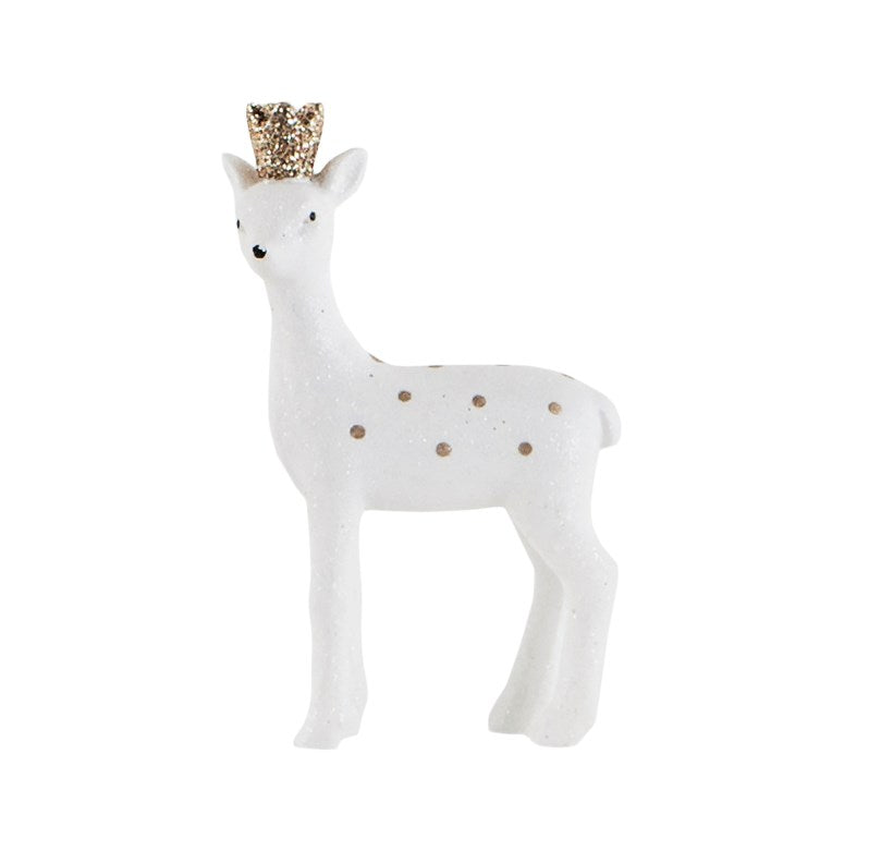 Gold Crown Standing Deer Decoration | Putti Christmas Canada