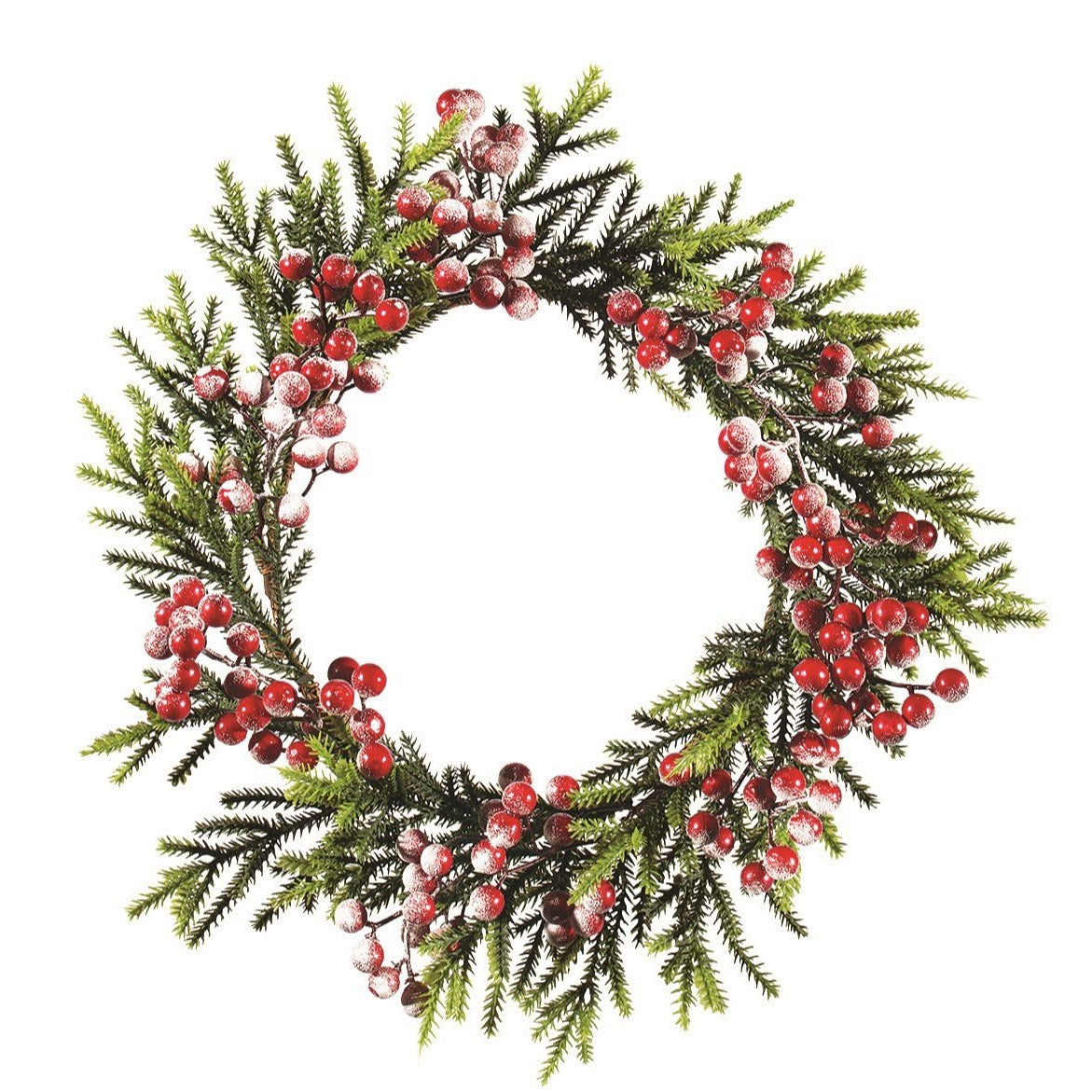 Juniper with Red Berries Wreath  | Putti Christmas