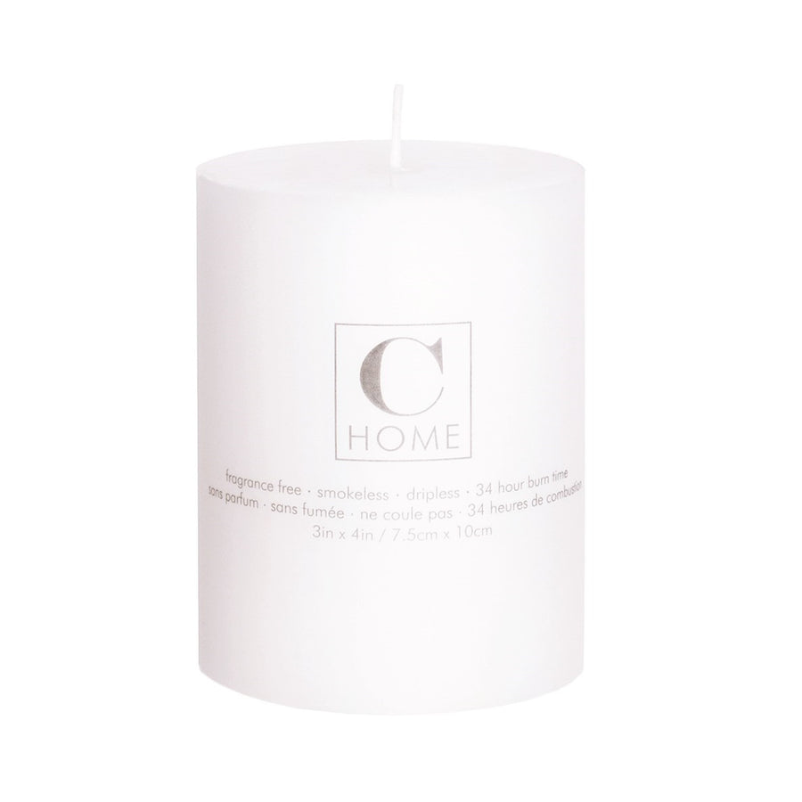 White Pillar Candle - 3 x 4
