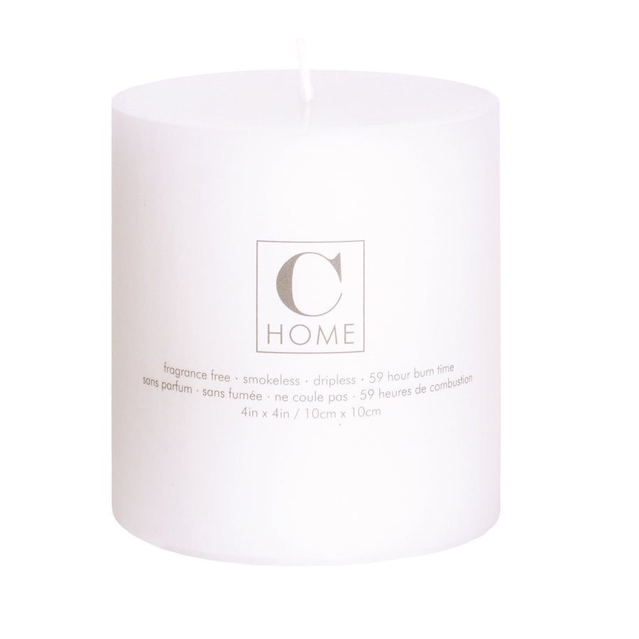 White Pillar Candle - 4 x 4