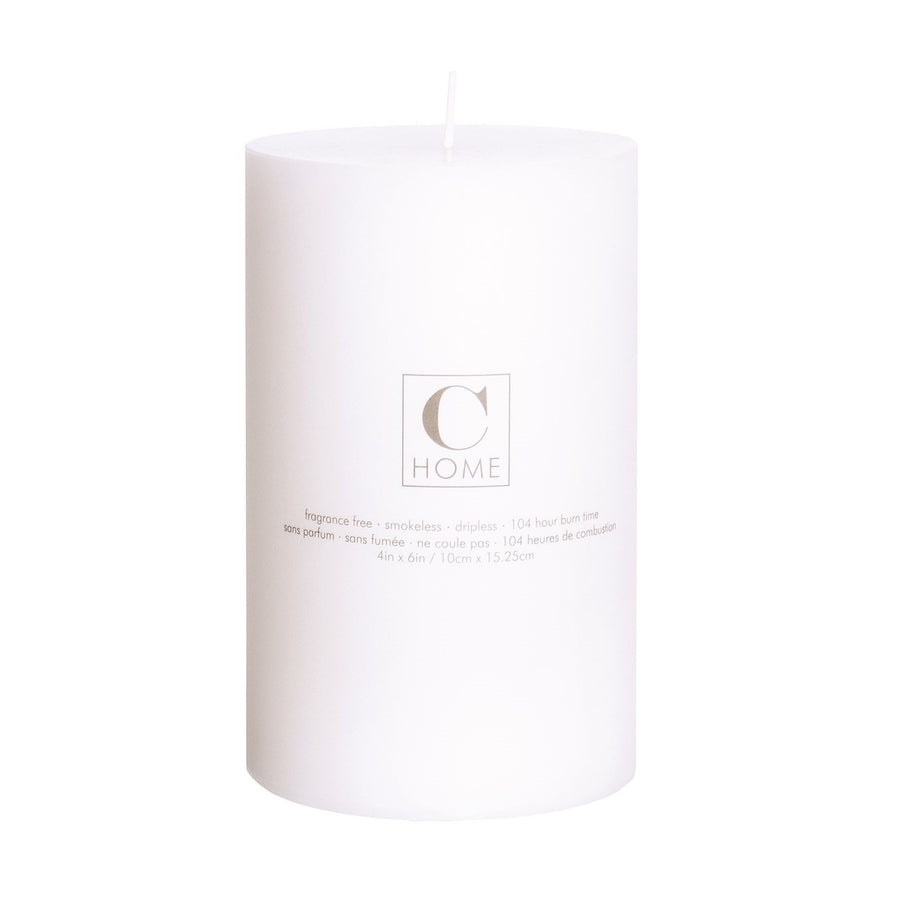 White Pillar Candle - 4 x 6