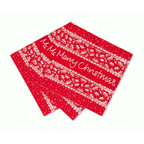 Red & White Christmas Amuse Bouche Napkin-Party Supplies-TT-Talking Tables-Putti Fine Furnishings