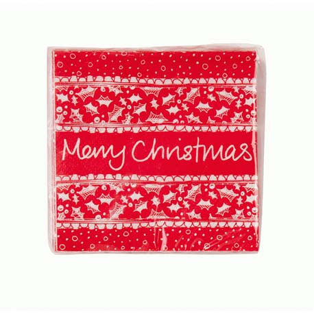 Red & White Christmas Amuse Bouche Napkin -  Party Supplies - Talking Tables - Putti Fine Furnishings Toronto Canada - 1
